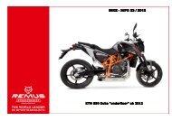 23.12 KTM 690 Duke underfloor ab 2012 - Phoenix Motorrad Tuning