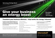 Give your business an energy boost - Knowledge Transfer ...