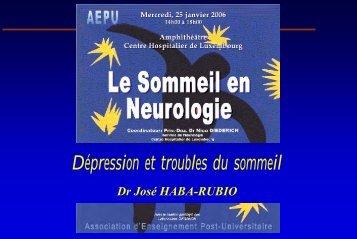 Dépression et troubles du sommeil - Aepu.lu