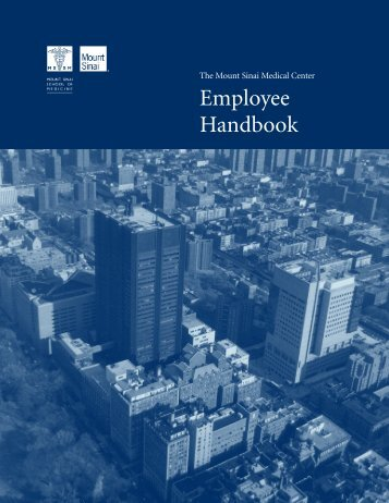 Employee Handbook - Mount Sinai Hospital