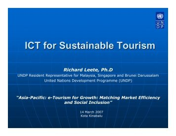 ICT for Sustainable Tourism - Unctad XI