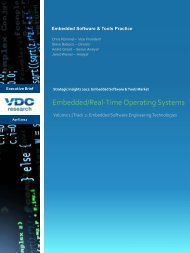 Embedded/Real-Time Operating Systems - VDC Research