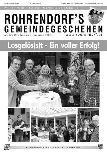 Gemeindezeitung 04/2013 - Rohrendorf bei Krems