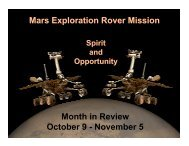 The rock - Mars Exploration Rover Mission