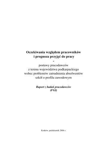 Raport z badań pracodawców - Wojewódzki Urząd Pracy w ...