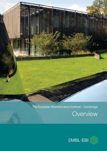 EMBL-EBI Overview - European Bioinformatics Institute