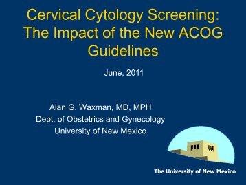 Cervical Cytology Screening