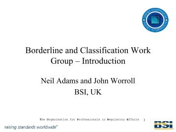 Borderline and Classification Work Group – Introduction - TOPRA