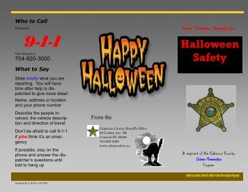 Halloween Safety - Cabarrus County