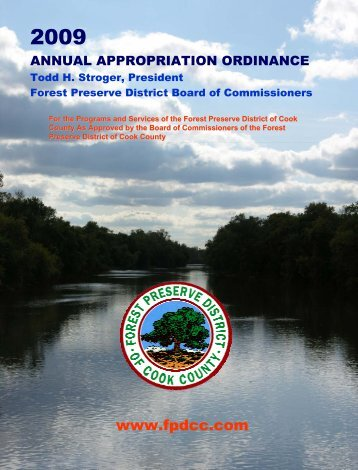 2009 FPD Appropriation Book - Forest Preserve District of Cook ...