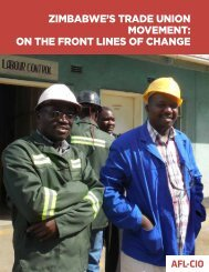 on The FronT lines oF Change - Solidarity Center