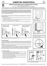 Bedienungsanleitung für Gassteckdose PLUG1 - Gasotec