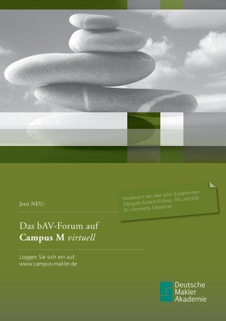Das bAV-Forum auf Campus M virtuell - Deutsche Makler Akademie
