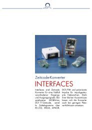 INTERFACES - MOBATIME Swiss Time Systems