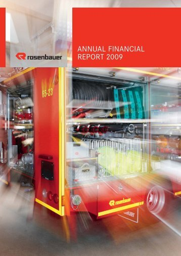 Annual financial report - Rosenbauer