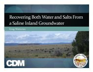 Recovering Both Water and Salts From a Saline Inland Groundwater