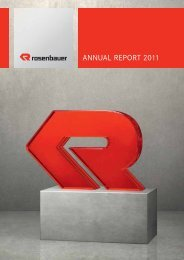 ANNUAL REPORT 2011 - Rosenbauer International AG