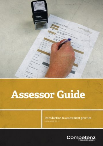 Assessor Guide [PDF] - Competenz