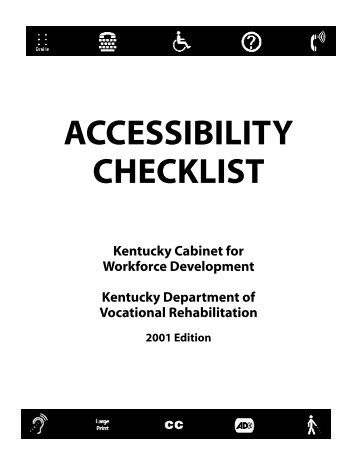 accessibility checklist - Kentucky American's with Disabilities Act ...