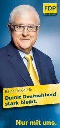 Nur mit uns. Nur mit uns. - FDP Kreisverband Aschaffenburg Land