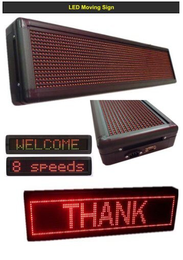 LED Moving Sign (MELODY-LIGHTING) - Melody-lighting.com