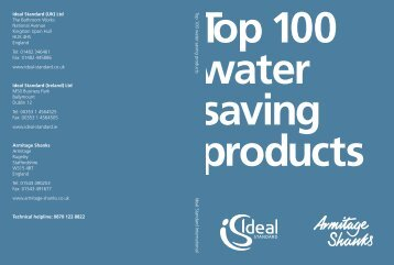 100 water Saving Products 2011 Ideal Standard is committed to the ...