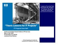 """""""Titanic Lessons for IT Projects"""" - FVP PMP Luncheons - Noblis"""