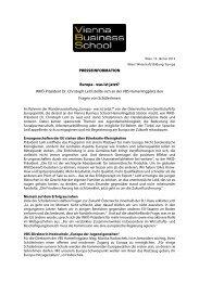 Europa – was ist jetzt? - Vienna Business School