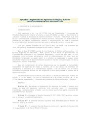 Aprueban Reglamento de Agencias de Viajes y Turismo - Cenfotur