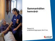 Hemsjukvård i förändring - Landstinget Gävleborg