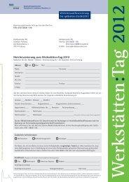 Formular Hotelreservierung Werkstätten:Tag 2012