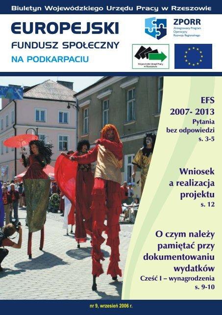 Biuletyn Europejski Fundusz Społeczny na Podkarpaciu nr 9 ...