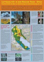 Luftqualität in der Region Thun - Spiez, 2002 - Kanton Bern