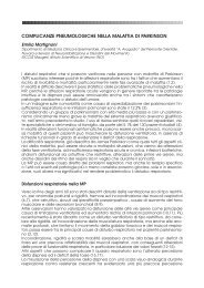 complicanze pneumologiche nella malattia di parkinson - Limpe