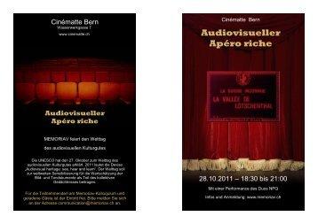 Zum Programm des Abends (PDF) - Memoriav