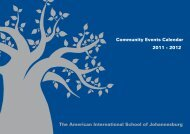 2012 Community Events Calendar - American International School ...