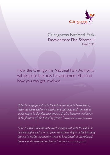 Development Plan Scheme - Cairngorms National Park Authority