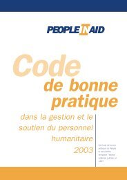 Code - People In Aid