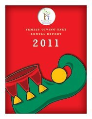 YE 2011 Annual Report - Family Giving Tree