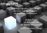 Assisting Transition Through an Honours College Program: an ...