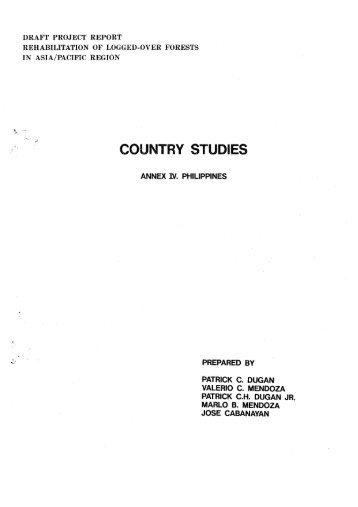 Country Study Annexes (IV) - ITTO