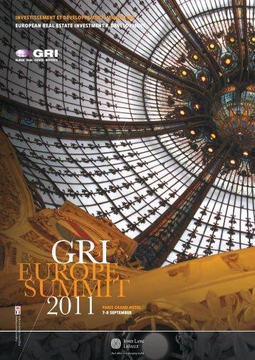 gri europe summit 2011 - Global Real Estate Institute