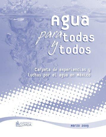 Carpeta de experiencias y luchas por el agua en México