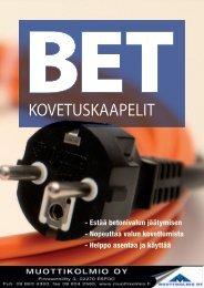 BET-betoninkovetuskaapeli - Muottikolmio Oy