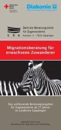 Flyer Migrationsberatung für erwachsene Zuwanderer