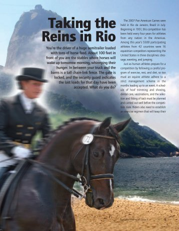 Taking the Reins in Rio - Kentucky Equine Research