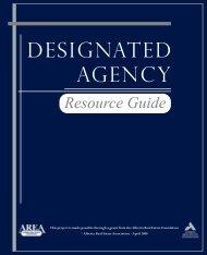designated agency - Alberta Real Estate Foundation