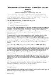 Wirksamkeit der CST bei atopischer Dermatitis - Cranio Suisse