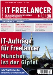 4 IT FreelanXer Magazin 04q2008 - IT Freelancer Magazin