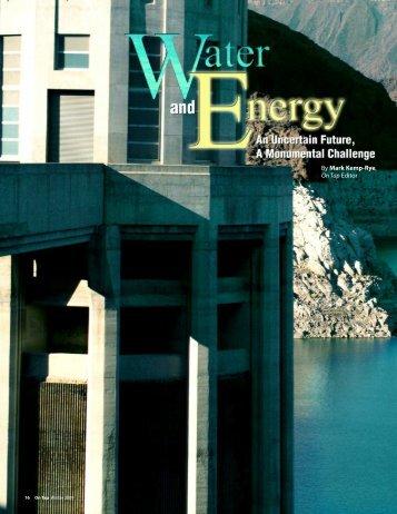 By Mark Kemp-Rye, On Tap Editor - National Environmental ...